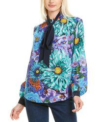 Mary Katrantzou Veddar Silk Top - Blue