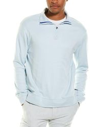 Stone Rose 1/4-zip Pullover - Blue