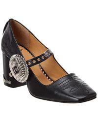 Toga Leather Pump - Black