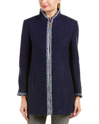 Sail To Sable Wool-blend Coat - Blue