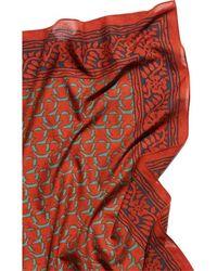 Saachi Block Print Scarf - Red