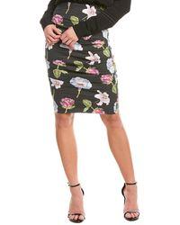 Nicole Miller Nicolle Miller Pencil Skirt - Black