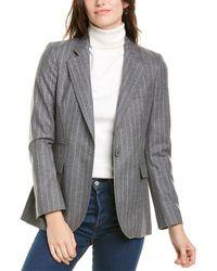 Les Copains Wool-blend Jacket - Grey
