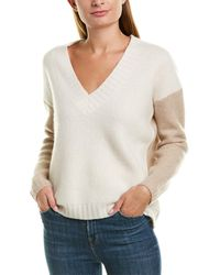 James Perse - Boxy Colorblocked Cashmere & Silk-blend Sweater - Lyst