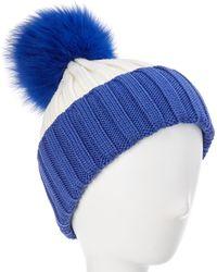 Adrienne Landau Wool Hat - Blue
