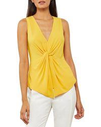 BCBGMAXAZRIA Woven Top - Yellow