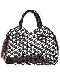 Stella McCartney Knotted Fabric Tote - Black