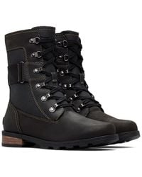 Sorel Emelie Conquest Waterproof Lace-up Boot - Black