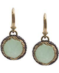 Armenta Old World 18k & Silver 15.29 Ct. Tw. Diamond & Gemstone Doublet Earrings - Green