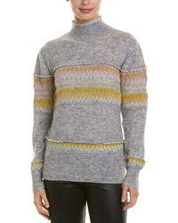 BCBGMAXAZRIA Mixed Intarsia Wool & Mohair-blend Sweater - Gray