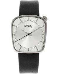 Simplify The 6800 Quartz Silver Dial Watch - Metallic
