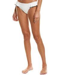 Robin Piccone Ruffle Bikini Bottom - White