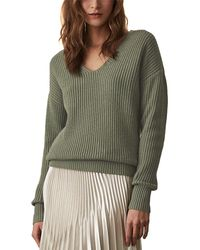 Reiss Audrey Rib Wool-blend Jumper - Green
