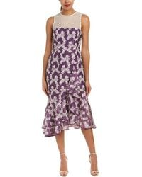 Nanette Lepore Midi Dress - Purple