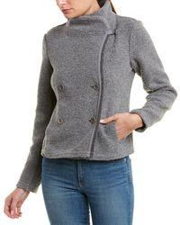 James Perse Shrunken Sherpa Wool-blend Jacket - Gray