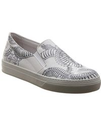 Tod's Tattoo Leather Slip-on Trainer - White