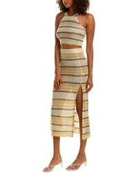Line & Dot Summer Nights Jumper Skirt - Yellow