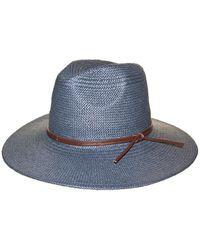 Frye Straw Fedora Weston Hat - Blue