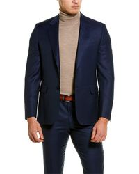 Brioni 2pc Wool Suit With Flat Pant - Blue