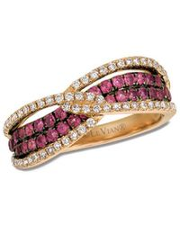Le Vian ® Raspberry Rhodolite® (3/4 Ct. T.w.) & Diamond (1/3 Ct. T.w.) Ring In 14k Rose Gold - Pink