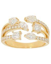 Nephora 14k 1.37 Ct. Tw. Diamond Ring - Metallic