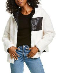 Adrienne Landau Reversible Jacket - White