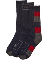 Sperry Top-Sider 3pk Core Active Crew Socks - Blue