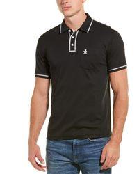 Original Penguin 3d Earl Pique Polo Shirt - Black