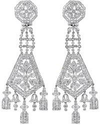 Diana M. Jewels . Fine Jewellery 14k 7.00 Ct. Tw. Diamond Chandelier Earrings - Metallic