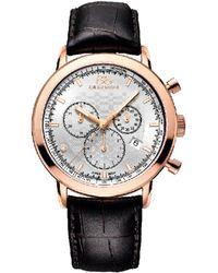 88 Rue Du Rhone Men's Leather Watch - Metallic