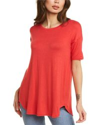 Forte Pleat Back T-shirt - Pink