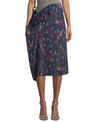 Balenciaga Asymmetric Pleat Skirt - Blue