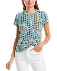 Diane von Furstenberg Christine Cotton T-shirt - Blue