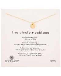 Dogeared - 14k Gold Over Silver The Circle Necklace - Lyst