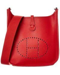 Hermès Red Epsom Leather Evelyne I Pm