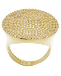 Alanna Bess Limited Edition 14k Over Silver Cz Statement Ring - Metallic