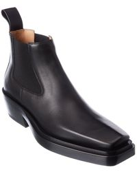 Bottega Veneta The Lean Leather Boot - Black