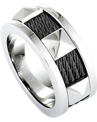 Charriol Stainless Steel Ring - Metallic