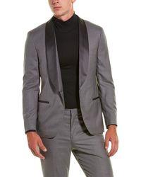 Brunello Cucinelli 2pc Wool & Silk-blend Tuxedo - Grey