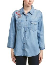 NYDJ - Embroidered Shirt - Lyst