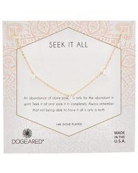 Dogeared 14k Over Silver Rock Crystal Choker Necklace - Metallic