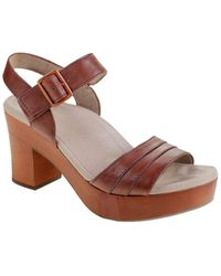 Earth Chestnut Leather Sandal - Brown