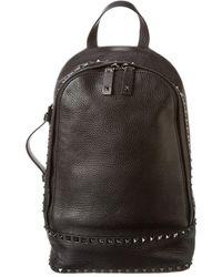 Valentino Garavani Leather Backpack - Black