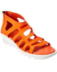 Arche Ikyade Leather Wedge Sandal - Orange