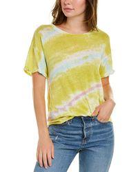 Young Fabulous & Broke Twister Linen T-shirt - Yellow