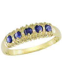 Rina Limor 10k 0.55 Ct. Tw. Blue Sapphire Ring