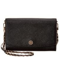 Tory Burch - Robinson Chain Leather Wallet - Lyst