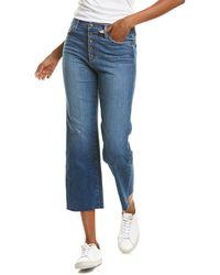 Joe's Jeans Joes Jeans Dunkirk High-rise Wide Leg Crop Jean - Blue