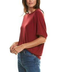 Michael Stars Madison Elbow-sleeve Top - Red
