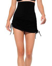 Anne Cole Tummy Control Swim Skirt - Black